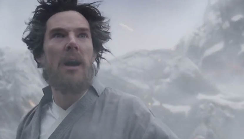 A screenshot from the trailer of 'Doctor Strange' shows Stephen Strange, played by Benedict Cumberbatch.